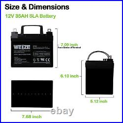 12V 35AH Battery for Pride Mobility Jazzy Select Wheelchair GT Power Chair 2Pack