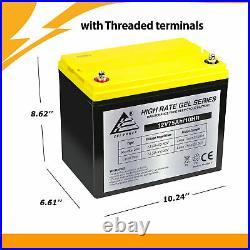 12V 75AH GEL Battery Replacement for Electric Sparky Wheelchair