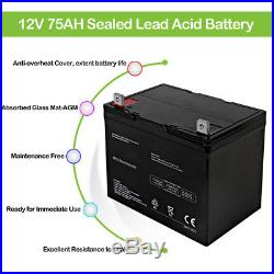 12V 75Ah Replacement Battery Electric Mobility Rover Wheelchair Brand Product