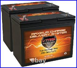 2 HOVEROUND Teknique FWD Wheelchair COMP VMAX MB96 AGM 22NF 120AH Batteries