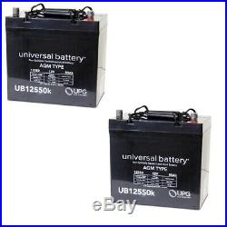 2 PACK UPG UB12550 12V 55AH Active Care Wildcat 450 Power Chair Scooter Battery