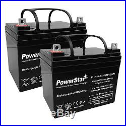 2 Pack 12V 35AH Jazzy Select GT Power Chair Scooter Battery