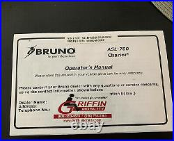 2015 Pre-Owned Bruno Chariot Power Wheelchair Lift