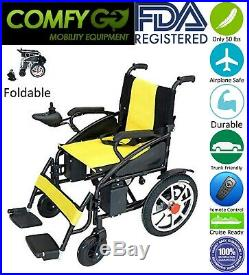2019 FDA Approved Foldable Electric Power Scooter Wheelchair Lithium Battery