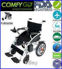 2019 Mobility Fold Electric Power Whellchair Acid Battery Upgraded ComfyGo Black