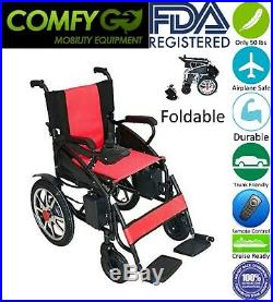2019 Upgraded Air Travel Lightweight Lithium Battery Power Scooter Wheelchair
