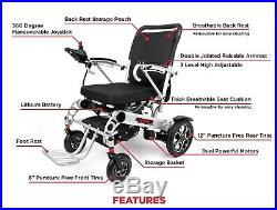 2020 New Dual Motor Double Removable Battery Premium Folding Power Wheelchair