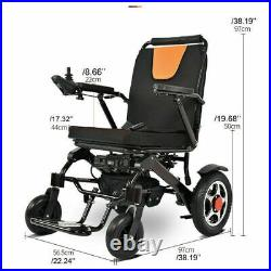 2021 Electric Wheelchair Folding Lightweight Power Aid Motorized + Two Battery
