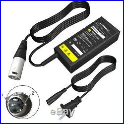 24 Volt 2A 48W XLR Mobility Battery Charger For Scooter Jazzy Power Chair