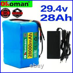 24V 28AH Li-ion Battery Volt Rechargeable Bicycle E Bike Electric wheelchair