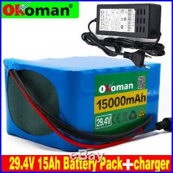 24v15Ah battery pack29.4v li-ion battery for wheelchair electric bicycle+charger