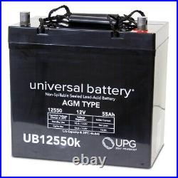 2PK 12V 55AH Replacement Battery 4 Sunrise Medical Quickie Pulse 6SC Powerchair