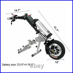 350W 48V Electric Wheelchair Tractor Attachment Handbike Kit+10AH Battery New