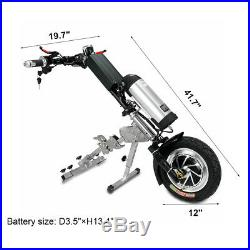 36V/350W 10Ah Attachable Electric Handcycle Scooter for Wheelchair Motor Driving