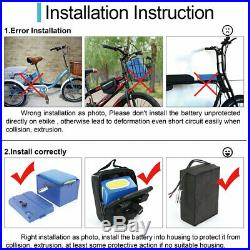 48V 15AH Ebike Battery for 500W 1000W Electric Bicycle Escooter Trike Wheelchair