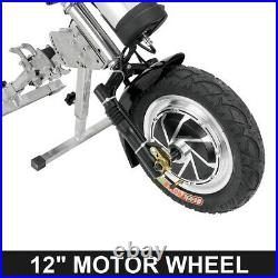48V Electric Tractor Handcycle Bike 350W Attachment For Wheelchairs With Battery