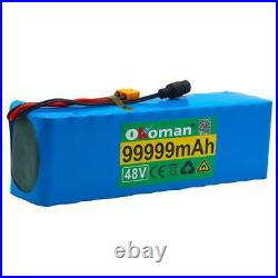 48v 99.999Ah Lithium Ion Battery 13S3P+5A Charger Wheelchair Electric Bicycle