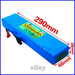 60V 12Ah ebike lithium ion battery pack 1000W high power, wheelchair + charger