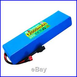 60V 12Ah ebike lithium ion battery pack 1000W high power wheelchair + charger NW