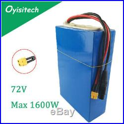 72V 20Ah Li-Ion Battery Pack Electric Wheelchair Scooter Ebike Max 1600W Motor