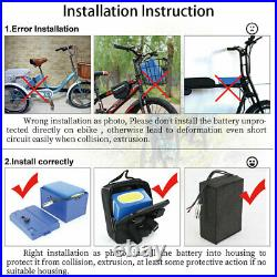72V 2800W 20AH Scooter Battery For Electric Bike Wheelchair Motorbike 4A Charger