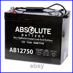 AB12750 12V 75AH Replacement Battery 4 Permobil M300 PS JR Power Wheelchair
