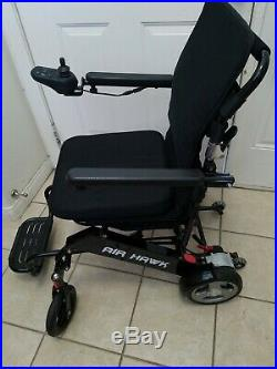 Air Hawk Lightweight EZ Fold Electric Power Wheelchair NO BATTERIES or Charger