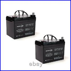 Bright Way 12V 35AH Battery for Shoprider Streamer Sport Power Chair 2 Pack