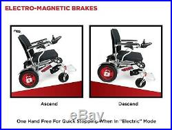 Dual Battery Dual Motor Airline Approved All Terrain Folding Electric Wheelchair