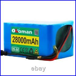 Ebike Battery 28000mAh Lithium Battery Wheelchair Electric Bicycle 2A Charger ES