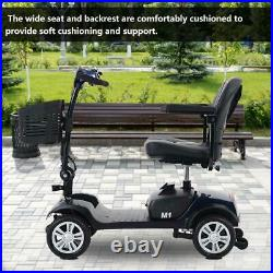 Elderly Scooter Four Wheel Folding Electric Car Wheelchair Small Car Battery Out