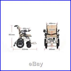 Electric Lightweight Folding Motorized Wheelchair Medical Mobility Two Battery
