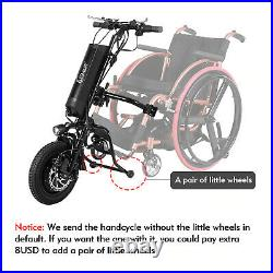 Electric Wheelchair Conversion Kit LCD Display 36V 350W Motor Wheel with Battery
