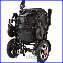 Electric Wheelchair Foldable Lightweight Power Aid Motorized with Two Battery