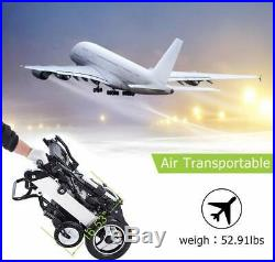 Electric Wheelchair Foldable Powered Mobility Aid Up to 15 Miles with2 Batteries