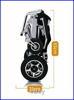 Electric Wheelchair Lightweight Mobility Aid Foldable Folding With Extra Battery