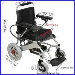 Electric Wheelchair Power Wheelchair Lightweight Mobility Aid Motorized Folding