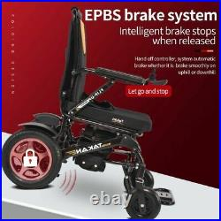 Electric Wheelchair Two Battery Portable Travel Lightweight Power Aid Motorized