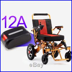 Foldable Folding Electric Power Wheelchair 12AH Lithium battery, 18 Seat