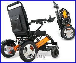 Foldable&Lightweight Electric Wheelchair, Dual Battery and Dual Brushless Motors