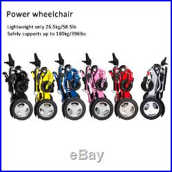 Foldable electric wheelchair with two batteries Free shipping