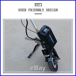 Foldable wheelchair electric trailer with lithium battery