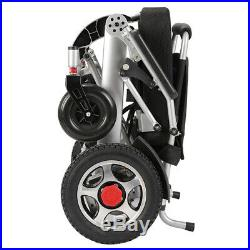 Folding Foldable Electric Power Wheelchair 12AH Lithium battery 18 Seat- Silver