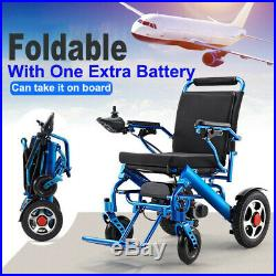 Folding Lightweight Electric Power Wheelchair Mobility Aid With Extra Battery