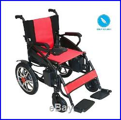 Folding Lightweight Heavy Duty Lithium Battery Electric Power Wheelchair RED