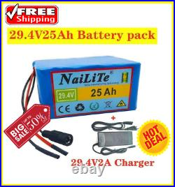 Genuine 24V 25ah battery pack 250W 350W 29.4V 7s5p For Bag Electric Wheelchair