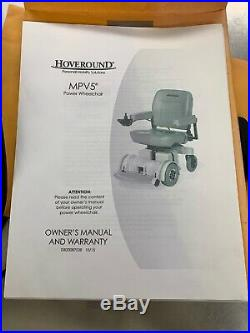 Hoveround MPV5 Power Wheelchair With Charger, Owners Manual and New Batteries