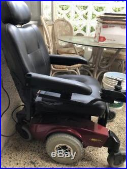 Invacare MK5 Red Electric Wheelchair Battery Operated Mobility Chair Works Great