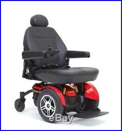 JAZZY SELECT ELITE POWER WHEELCHAIR RED/ BLACK LEATHER. Battery works