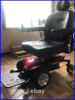 JAZZY Select Elite Red ELECTRIC WHEELCHAIR by Pride Mobility+charger/battery